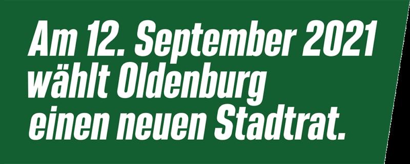 Am 12. September 2021 wählt Oldenburg einen neuen Stadtrat.