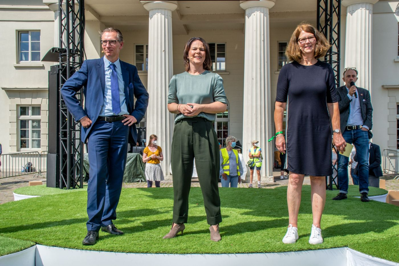 Daniel Fuhrhop, Annalena Baerbock, Susanne Menge (Foto: Thorsten Duhn)